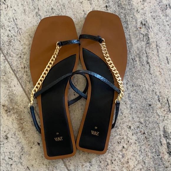 Size 40 Zara Black Sandal